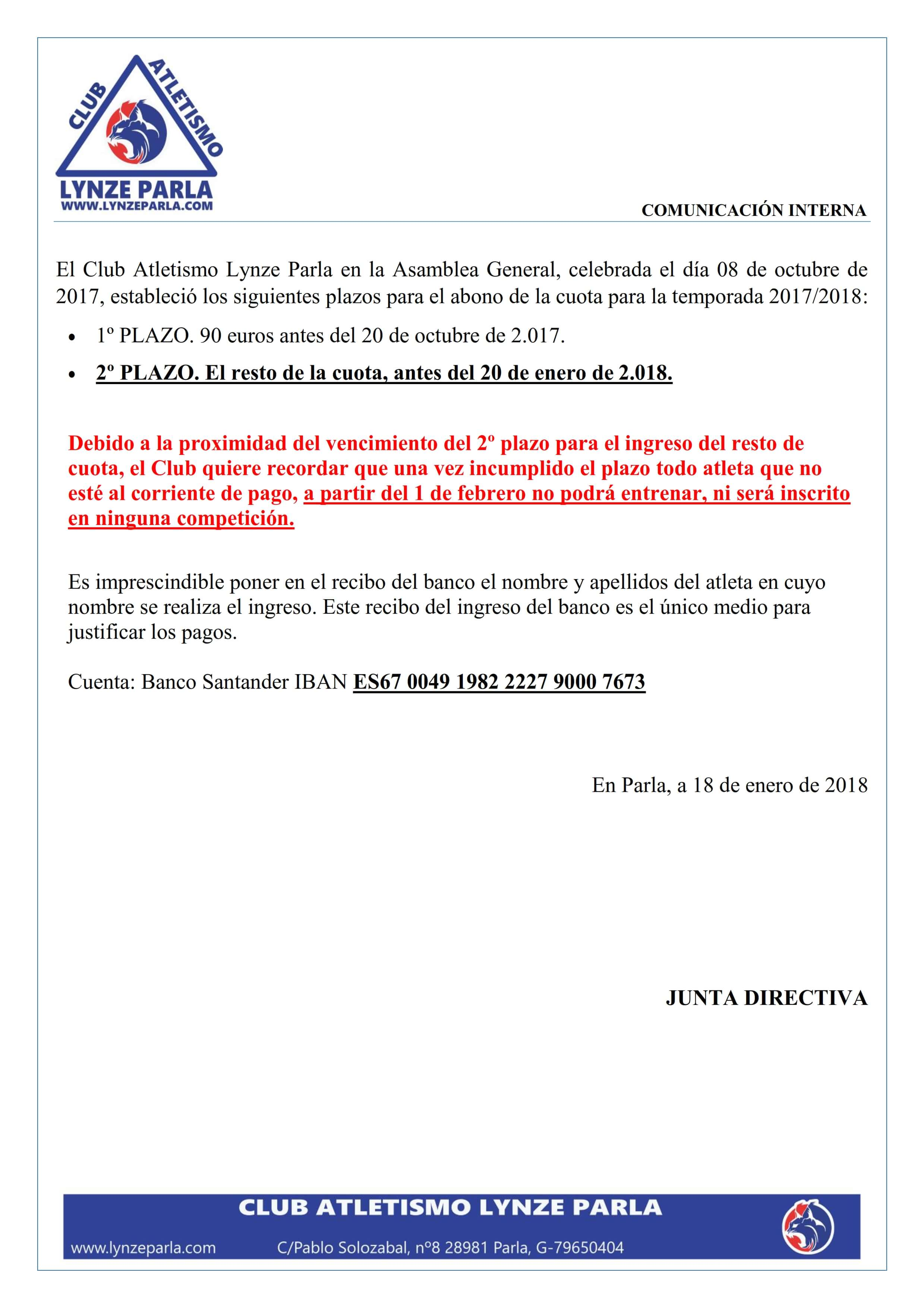 Documento periodo de pago